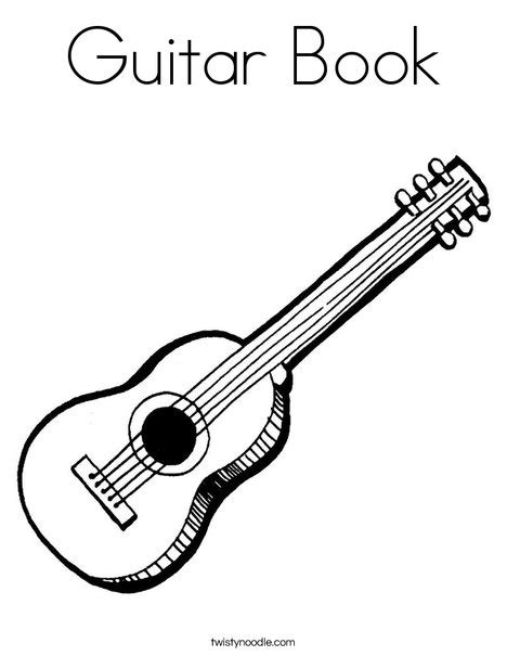guitar book coloring page twisty noodle