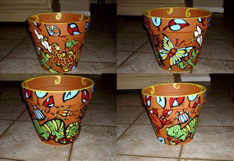 decorazioni per vasi vasi terracotta tante idee originali per realizzare