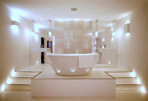 contemporary master bathroom lighting ideas