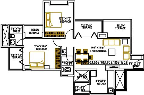 mi casa floor plan 941 sq ft 2 bhk 2t apartment for sale in shree venkatesh