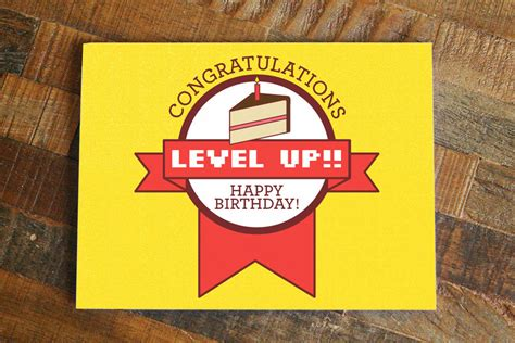 printable birthday cards video games gamer birthday card level up funny birthday nerdy birthday