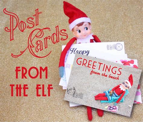 printable birthday card from elf on the shelf printable elf post card set valentines posts and summer