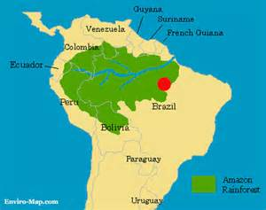 brazil map rainforest