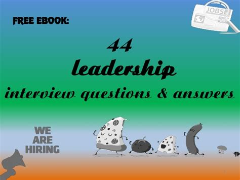 44 leadership questions and answers