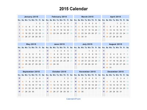 printable yearly calendar 2014 landscape 2015 calendar blank printable calendar template in pdf