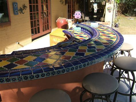 tile bar top ideas outdoor tile and stone ideas