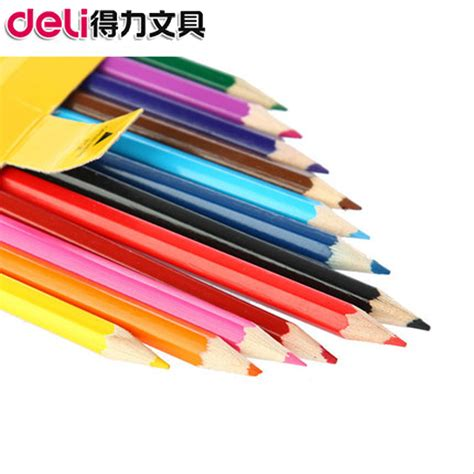 Colored Pencils 12 Deli 37120 deli 7016 wooden colored pencil drawing pencil korea color
