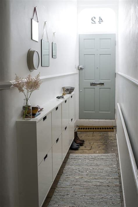 Narrow Entryway Storage 30 Fabulous Hallway Storage Ideas Home And Gardening Ideas