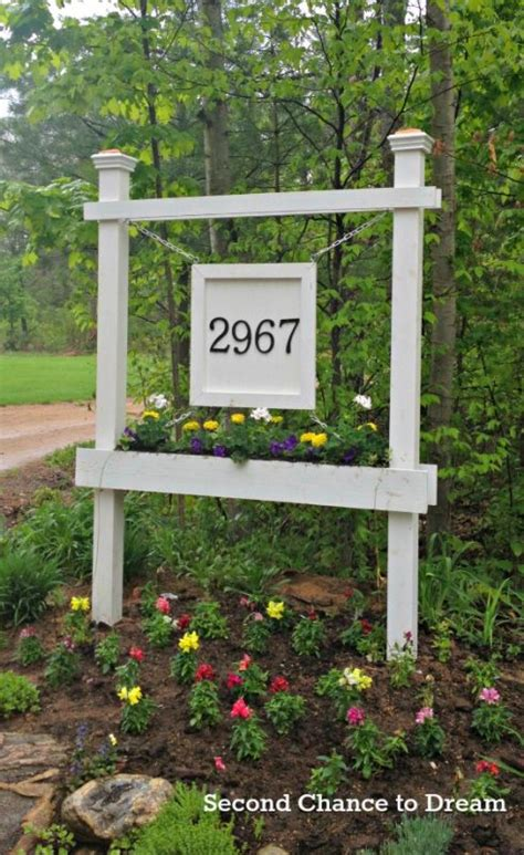 house number sign for l post remodelaholic 25 diy outdoor furniture and decor projects