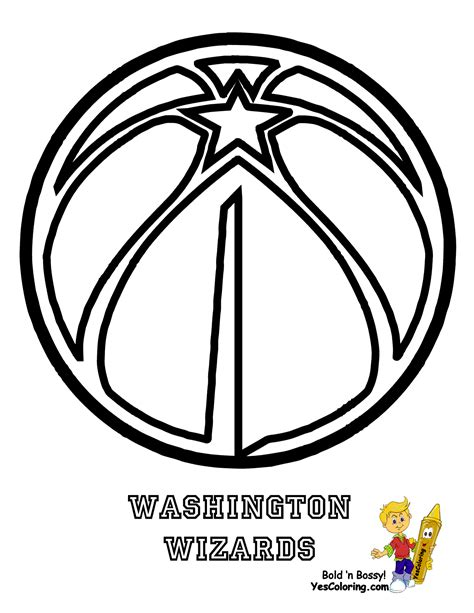 nba wizards coloring pages basketball coloring pages