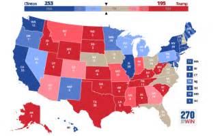 mapaor de elecciones usa 2016 elecciones estados unidos 2016 proyecciones hillary