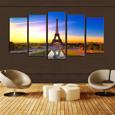2016 sale real paintings fallout unframed 5 panels eiffel online get cheap acrylic sheet printing aliexpress com