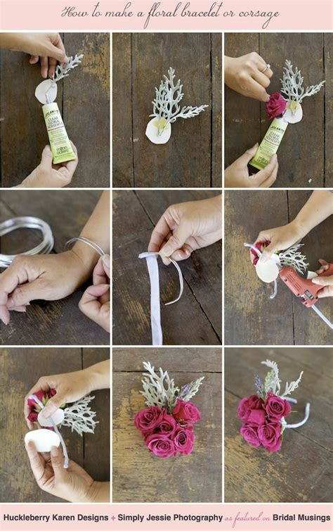 how to make flower bracelets with how to make a floral bracelet wrist corsage