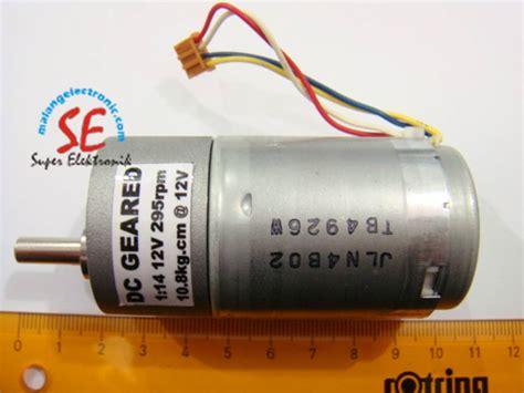 Jual Motor Dc Dengan Encoder jual gearbox motor dc 295rpm motor dc torsi 10 kg murah malang electronic