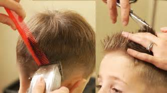 cutting boy hair with scissors how to cut boy s hair taper fade haircut with no