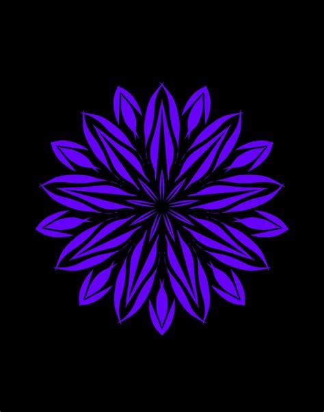 purple flower st stencil design teall designs