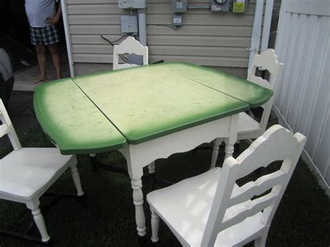 vintage porcelain enamel kitchen table 4 chairs in