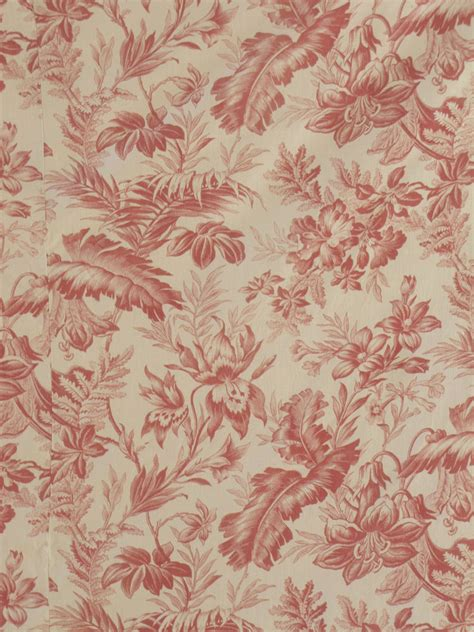 drape of fabric antique french 19th century curtain drape red toile fabric