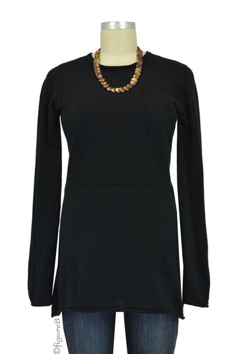 Rn Sweater Mismis Fit L designs merino wool nursing sweater in black