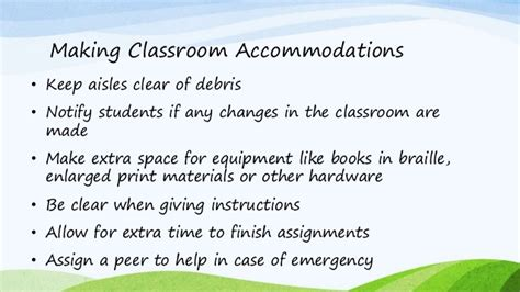 Accommodations For Blind Students visual impairment information and teaching strategies