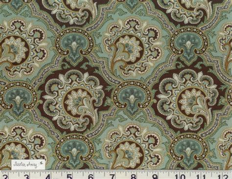 100 Cotton Fabric For Quilting by Teal Gold Quilting 100 Cotton Fabric Paisley