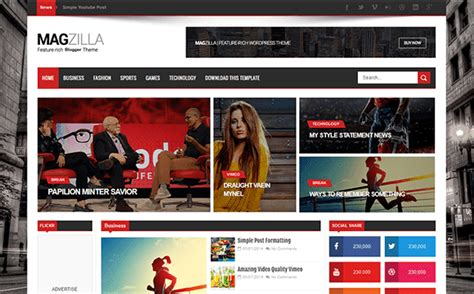 templates for blogger sports how to setup mag zilla blogger template rki gamers