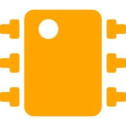 integrated circuit icon free orange integrated circuit icon orange