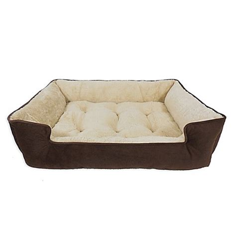 bed bath and beyond dog bed paws life memory foam lounger pet bed in brown bed bath