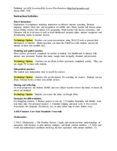 direct lesson plan template dyson c mobile learning lesson plan 7330