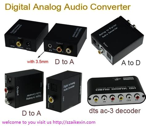 Converter Digital Analog To Audio Rl adc converter analog audio converter rca r l 3 5mm to toslink digital coaxial spdif