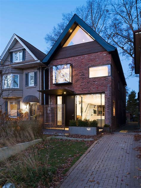 Modern Exterior Doors Toronto early 1900s toronto residence charms with a glassy modern