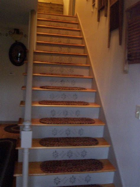 stair treads and stenciling colonial stencils pinterest