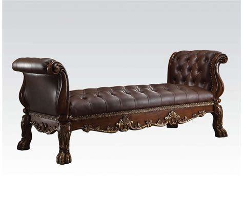faux leather benches dresden traditional bench with faux leather upholstery in