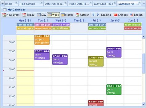 jquery event calendar plugin web resources