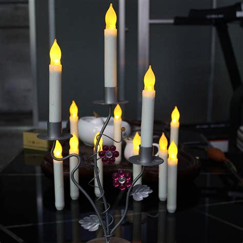 battery powered flame light christmas decor small size led pillar taper set