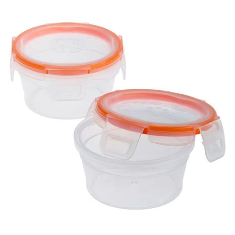 snapware containers snapware total solution plastic food storage 1 2 cup with lids 2 pack 1111576 the home depot