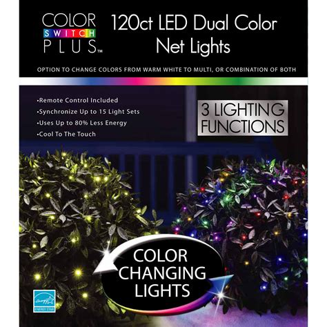 color switch plus christmas led dual color changhing with