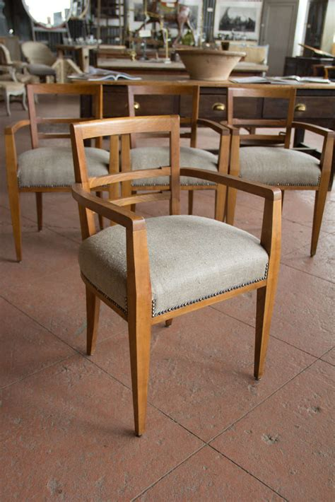 set of four deco dining room chairs at 1stdibs