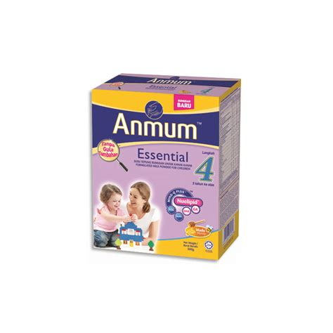 Anmum Essential 1 Anmum Essential Step 4 Milk Powder 1 2kg Honey Food