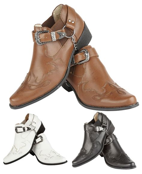 mens western shoe boots mens western cowboy boots casual ankle boots