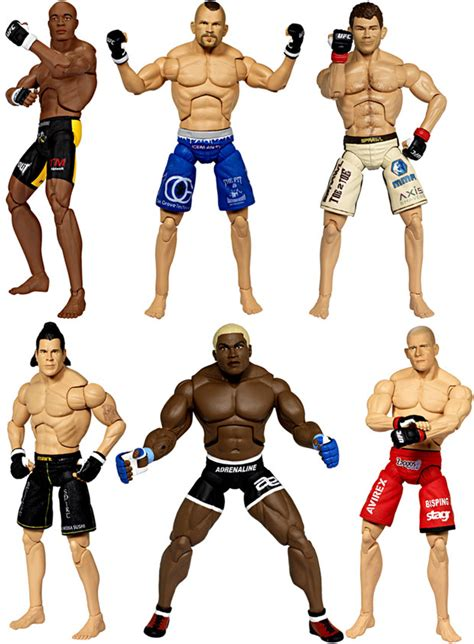 figure ufc top mma fighters visit jakks pacific booth at ufc fan expo