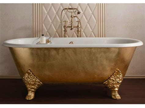 Classic Bathtub by Classic Style Freestanding Gold Leaf Bathtub Carlton Gold