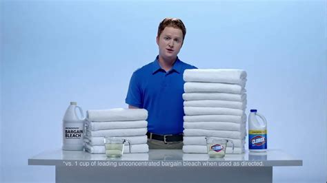 clorox commercial actress clorox clorox concentrated bleach tv commercial twice as