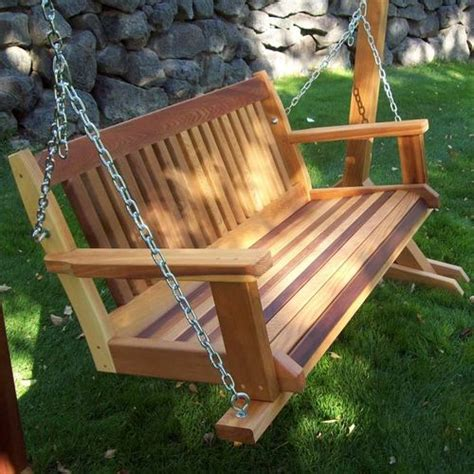 build wooden swing cabbage hill wooden porch swing at brookstone buy now