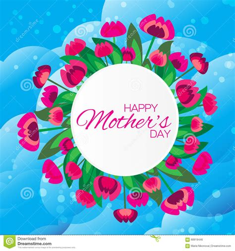 greeting card template s day abstract colorful floral greeting card happy mothers day