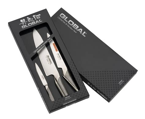 uk kitchen knives global g21138 3 piece kitchen knife set g 21138