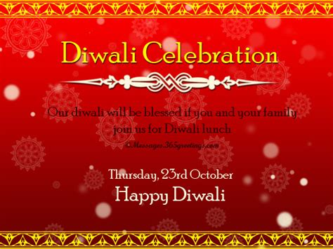 diwali invitation card template diwali invitations and wordings 365greetings