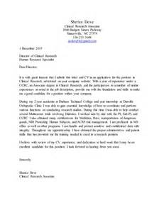 Cover Letter For Research Associate by 2015 Cv With Cover Letter
