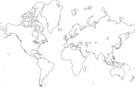 world map outline vector world map vector outline