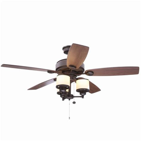 oil rubbed bronze ceiling fan light kit hton bay waterton ii 52 in indoor oil rubbed bronze